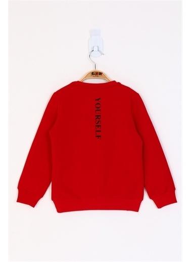 Toontoy Kids Toontoy Kız Çocuk Be Yourself Baskılı Sweatshirt Kırmızı